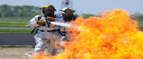 N.D. training to fight fires