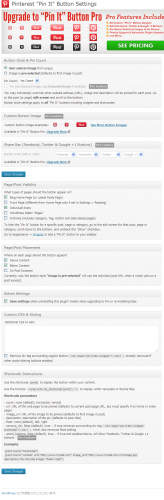Pin It Button Settings-WordPress