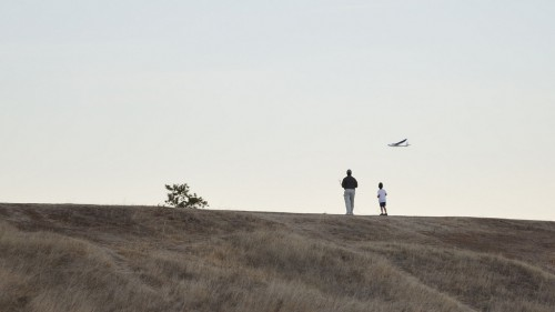 Father and Son Flying an RC Plane at Rancho San Antonio
