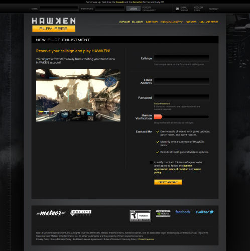 Free-to-Play Mech FPS - HAWKEN- War is A Machine2