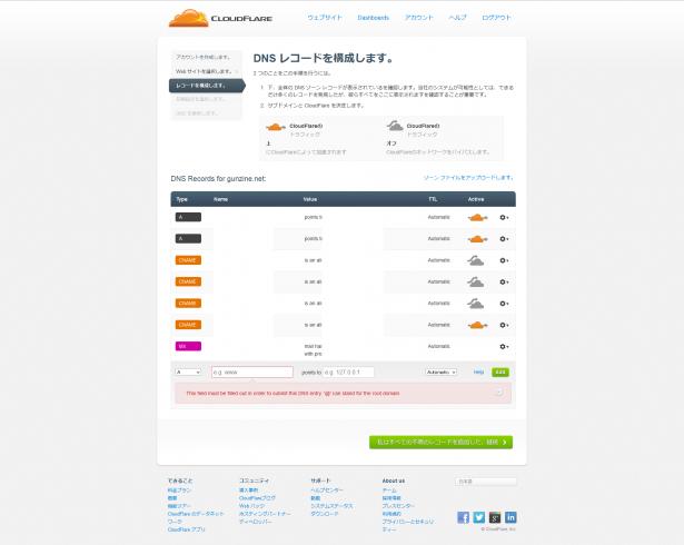 CloudFlare   Webパフォーマンス&セキュリティ会社のDNSを設定する
