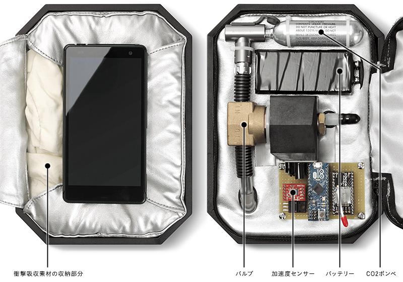 ホンダがエアバック内蔵のスマホケースを開発