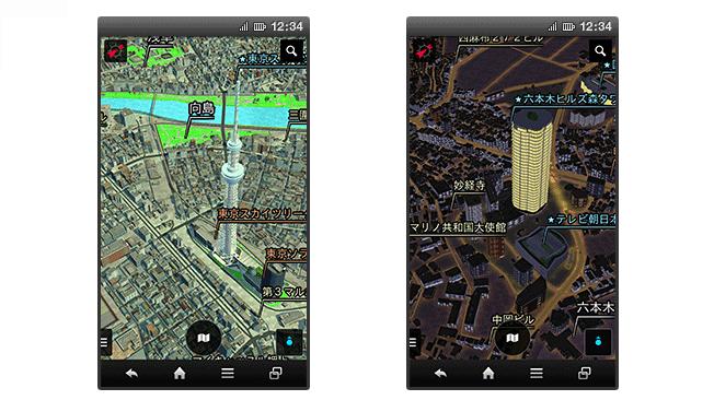 ドコモの3D地図には無駄な機能がいっぱい