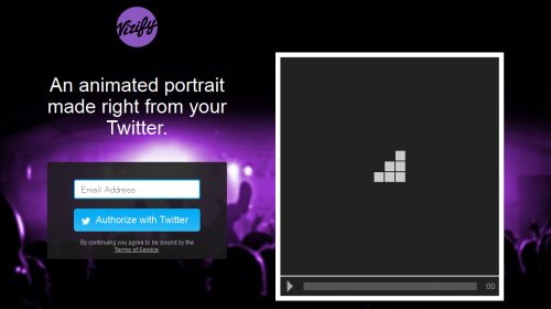Animate your Twitter profile as a video  via Vizify
