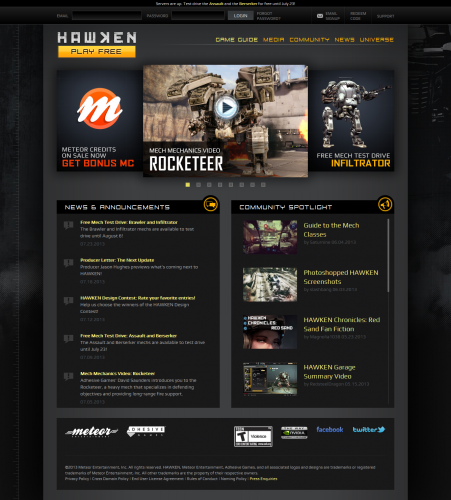 Free-to-Play Mech FPS - HAWKEN- War is A Machine1