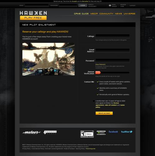Free-to-Play Mech FPS - HAWKEN- War is A Machine2